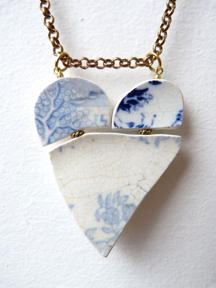 Boodi Blu Buried Treasure recycled ceramic necklace | This Weeks Top 10 Eco Finds | girlwithbeads - recycled fashion