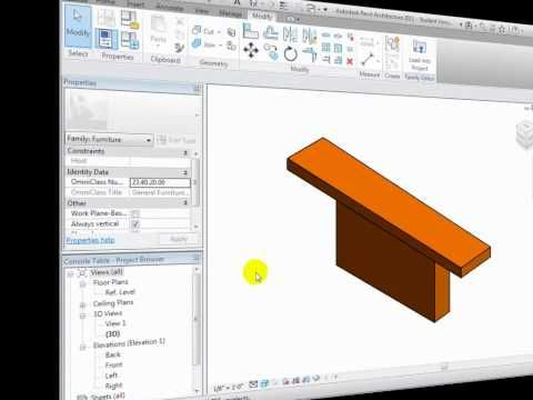 APPLY MATERIALS  Revit Architecture - Creating New Parametric Families - Part 2