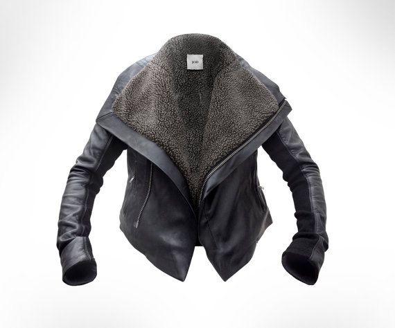 Custom made Black Leather Biker by J.O.D van JODClothing op Etsy