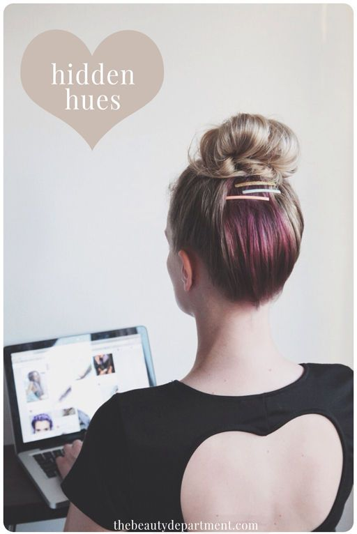 On Fridays we wear lilac in our hair. Today we partnered back up with our friends at @vidalsassoonproseries to show you how you can have a hidden hint of lilac!