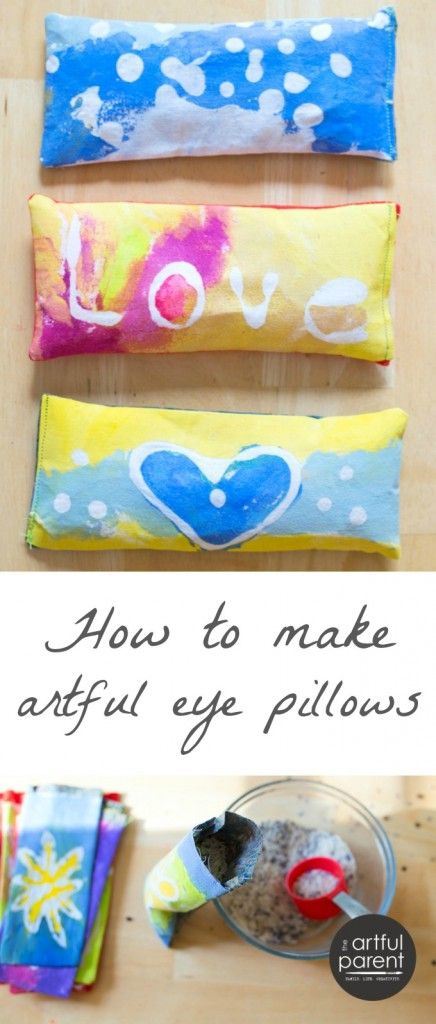 How to Make Artful Lavender Eye Pillows with Glue Batik Art