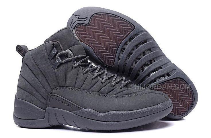 "2015 Air Jordan 12 ""PSNY"" Dark Grey-Black Cheap"