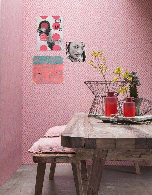 Fuzzy bohemian swirls in a funky pink !