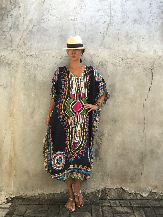 Kaftan etnici vestito bohemien hipppie festival di stylepark1