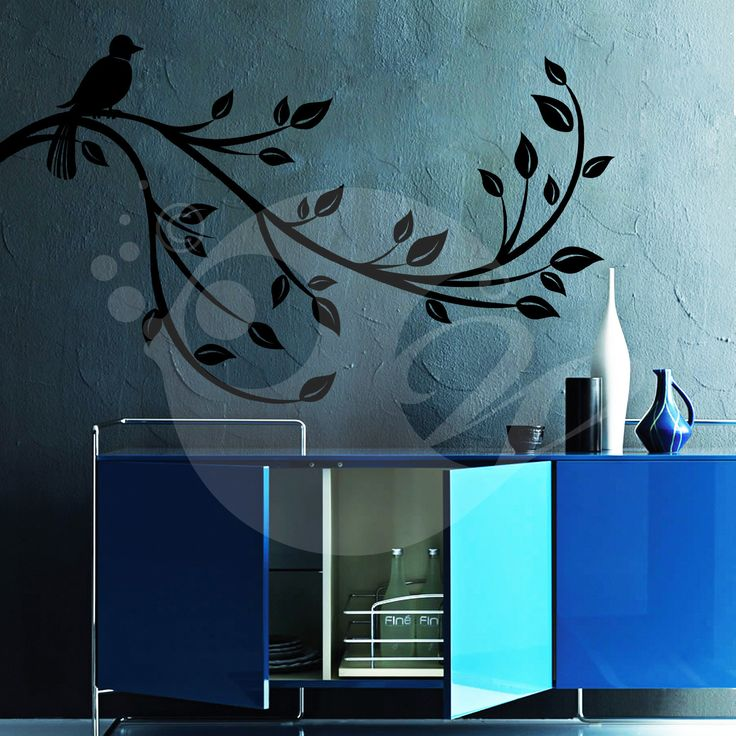 With this Bird On A Branch Wall Sticker Decal you can decorate your walls in one of the most modern and elegant ways