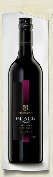 MCGUICAN, Black Label Red, Australia.  This red wine has great fruit flavours of spicy plum, cherry and blackberry. Recommended with Italian and spicy Asian food.  Price: $9.99