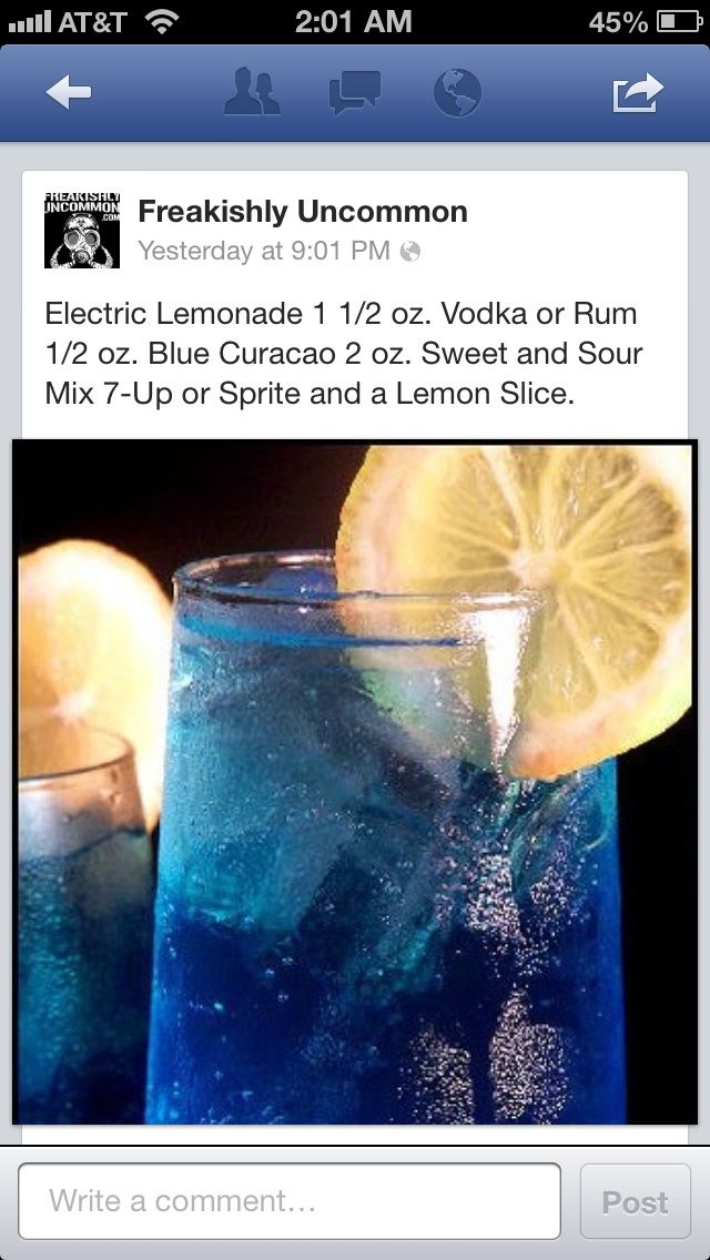 Electric Lemonade | Cobalt blue, yellow, orange wedding -- signature cocktail?