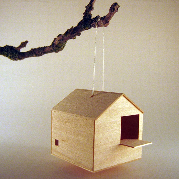Best Casitas Images On Pinterest Art Houses Miniature - Cool wooden bird house for apartment inhabitants brirdhouse by vlaemsch