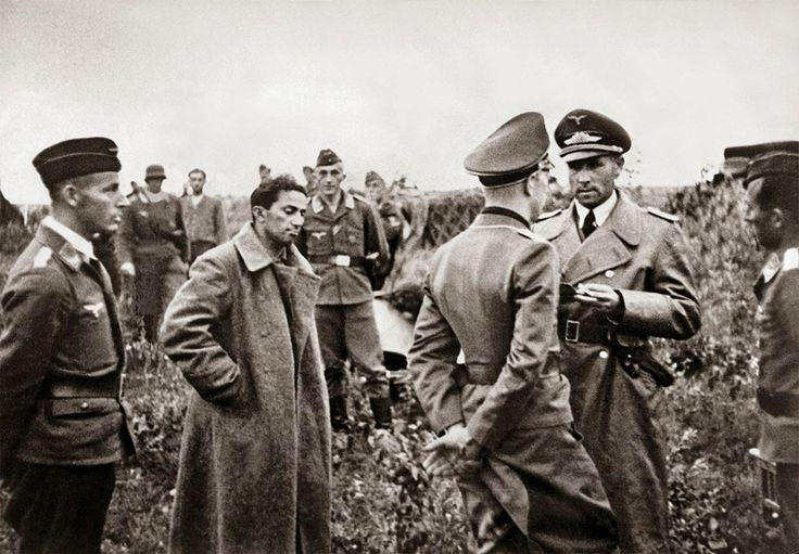 Stalin's son Yakov Dzhugashvili captured by the Germans. He 'died' in a PoW camp - https://www.warhistoryonline.com/world-war-ii/stalins-son-yakov-dzhugashvili-captured-by-the-germans-he-died-in-a-pow-camp.html