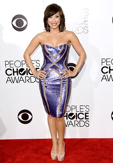 Cheryl Burke;s dress lines are cool