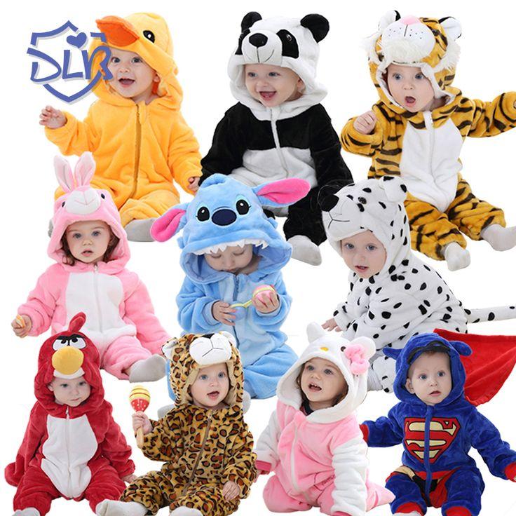 Супер Мягкий Милый Ребенок Детский Комбинезон Весна Осень Фланель Детская Одежда Мультфильм Животных Комбинезон Ребенка Комбинезон Baby Boy & Девушка Romers #hats, #watches, #belts, #fashion, #style