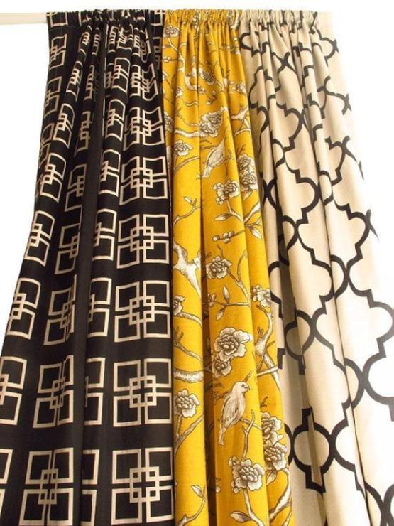 Pair Of Decorative Rod Top Drapery Panels By Nenavon Etsy