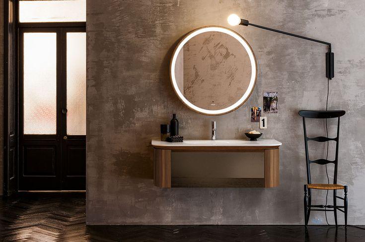 Incanto - Composizione AL 537B - Bagno, Design, Arredobagno, Arredamento bagno, Arredobagno moderno, Specchi, LED, Made in italy, Made in toscany, Firenze, Progetti Hotel