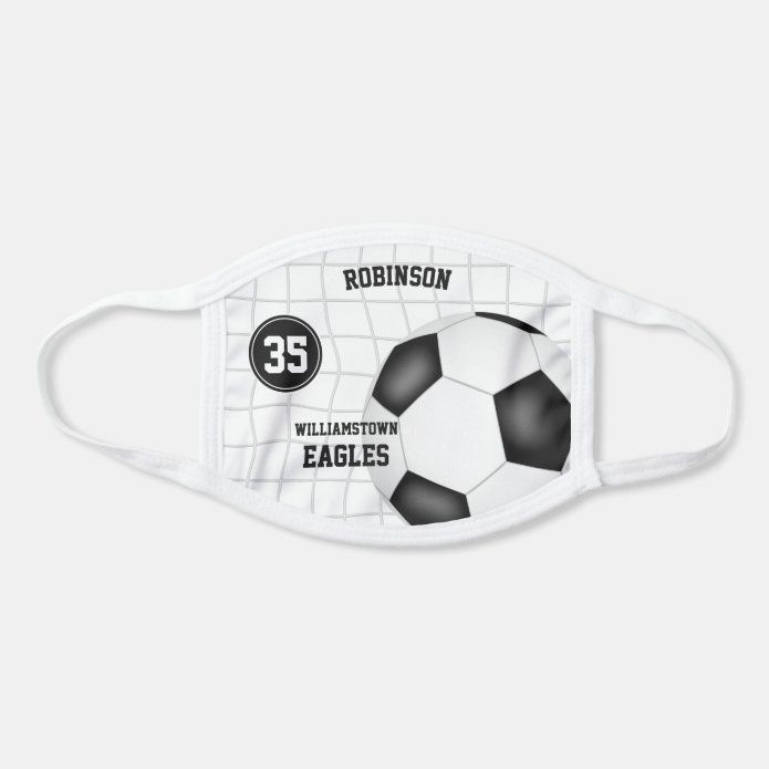 Sporty His Hers Personalized Soccer Face Mask Zazzle Com In 2020 Personalized Soccer Face Mask Soccer