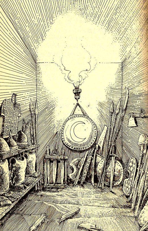 Russ Nicholson. The Warlock of Firetop Mountain. Fighting Fantasy)
