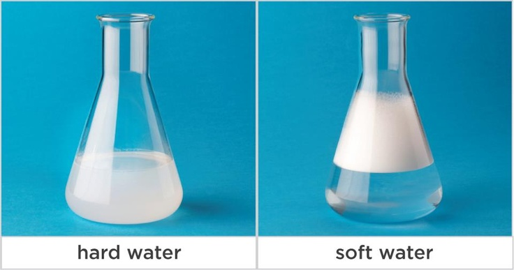 When you add soap to hard water it won't lather properly