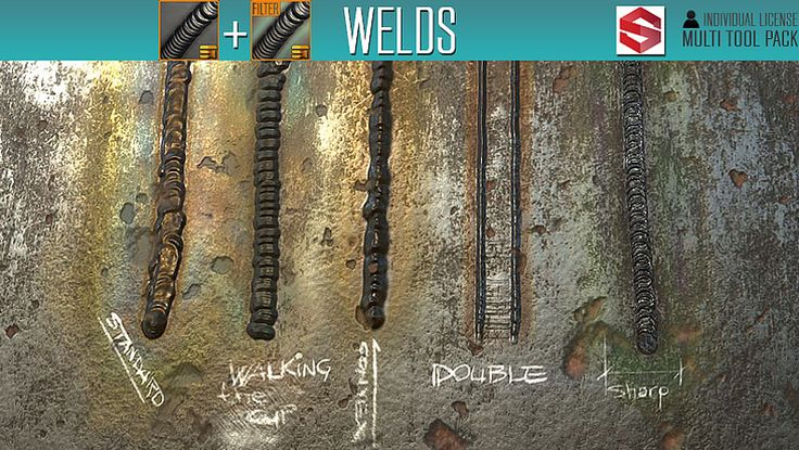 Welds [Tool+Filter], Substance Tools on ArtStation at https://www.artstation.com/artwork/o6GoB