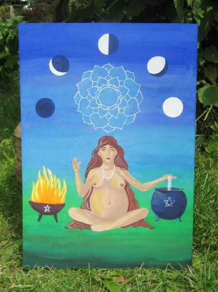 Goddess by Julia Freier https://abramakabrapix.wordpress.com/2014/08/24/birth-goddess/