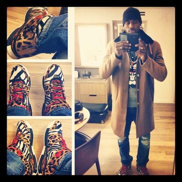 Lebron James wears Han Kjobenhavn Trench Coat, Givenchy Sweatshirt, and Lebron 2 Sneakers | UpscaleHype