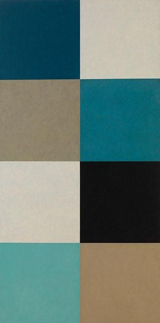 Juhana Blomstedt: Symposion, 1992, oil on canvas, 180x90 cm - Galerie Anhava