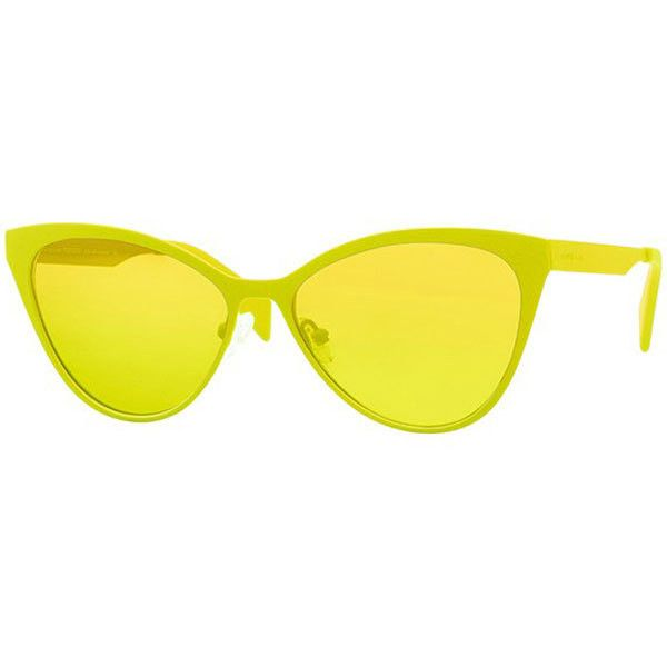 italia independent ii 0022 i ace metal sunglasses 140 lbp liked on polyvore featuring accessories eyewear sunglasses yellow italia independent
