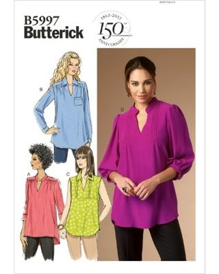 Butterick Patterns B5997 Misses/Women's Top Sewing Template, Size B5