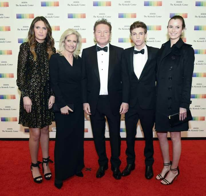 Don & Sharon Henley  with their kids at The Kennedy Center Honors in DC Fri 12-2-2016