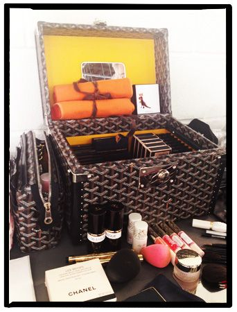 View From the Beauty Closet: Troy Surrat's Goyard Makeup Case: Daily Beauty Reporter :  Today I'm on set shooting a new Beauty 101 video with one of my favorite makeup artists, Troy Surratt. I love working with Troy because we get to chat about new launches, and he always brings back cool products...