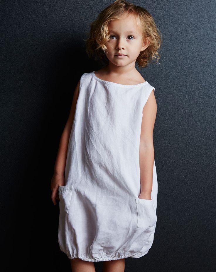 GOAT-MILK kidware | 100% organic cotton basics | girl's linen dress
