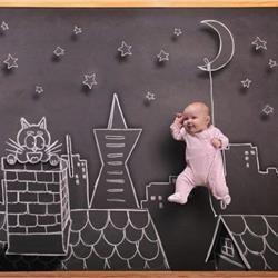 Φωτογραφίες μωρών πάνω σε μαυροπίνακα - Imommy