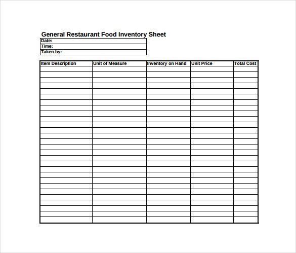Image result for inventory sheet pdf