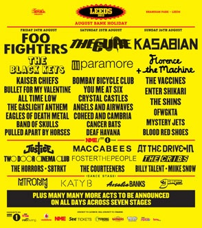 Playing Leeds Festival in the UK in August - http://www.leedsfestival.com/