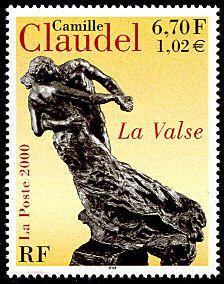 Camille Claudel «La valse» - Timbre de 2000