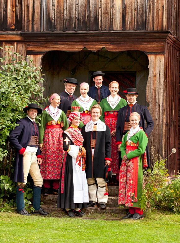 Folk Costumes In Dalecarlia Sweden From The Book