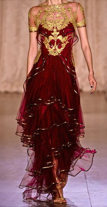 Marchesa S/S 2013 Love this color and the flow of the dress