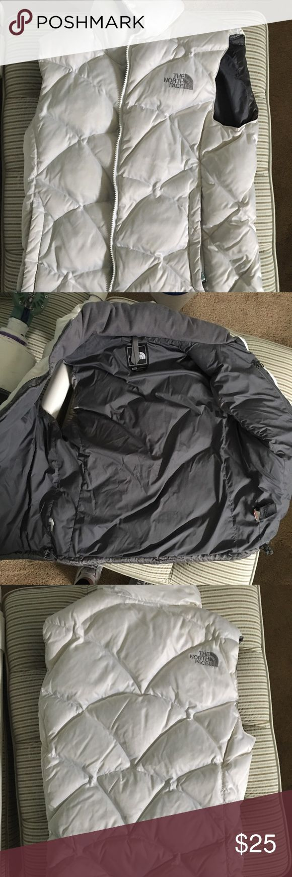North face vest White north face vest North Face Jackets & Coats Vests