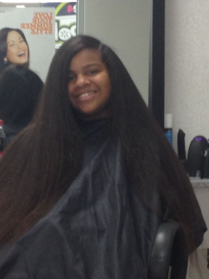 Natural Hair Blow dried And Flat Ironed Shared By Deneen - http://www.blackhairinformation.com/community/hairstyle-gallery/natural-hairstyles/natural-hair-blow-dried-flat-ironed-shared-deneen/ #naturalhair #longhair #flatiron