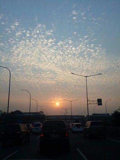 Beautiful #sunrise in #Jakarta