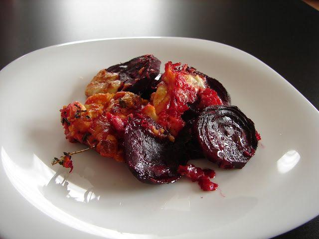 Červená řepa z trouby s balkánským sýrem