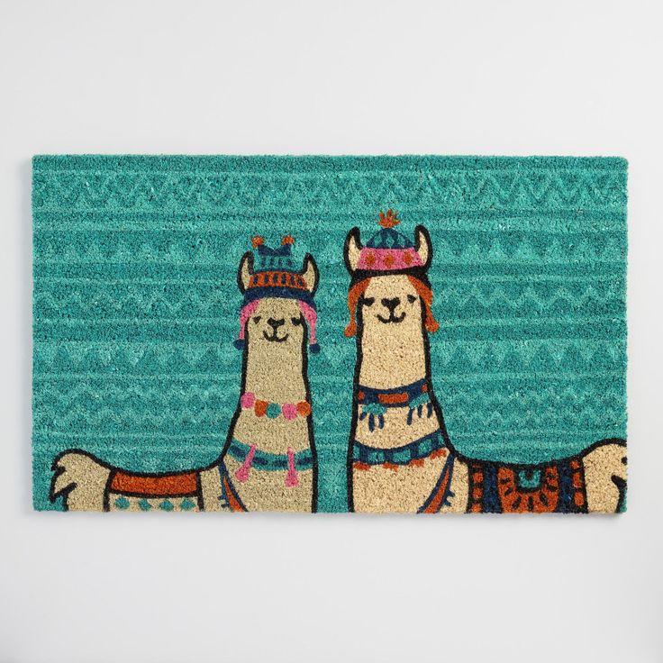 Llama Coir Doormat Blue By World Market In 2019