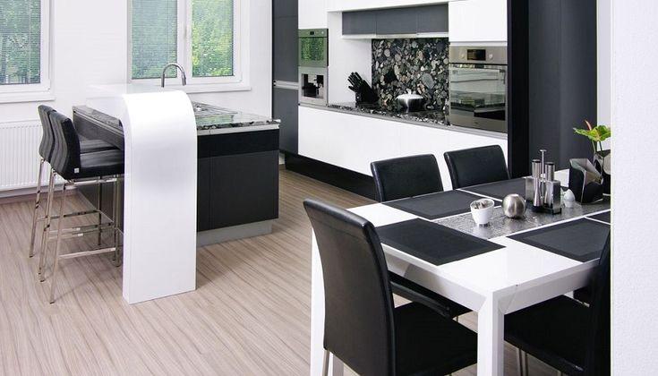 Modern kitchen design idea.