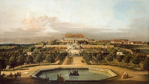 The imperial summer residence, garden - Bernardo Bellotto