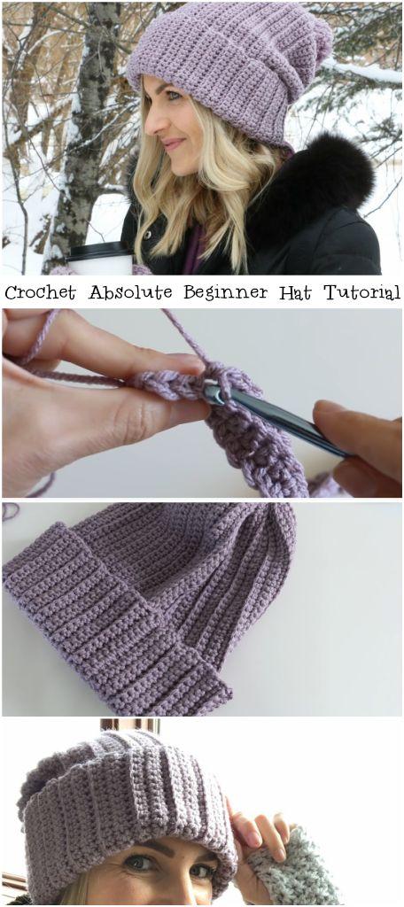 Crochet Absolute Beginner Hat Tutorial – Crochetop…