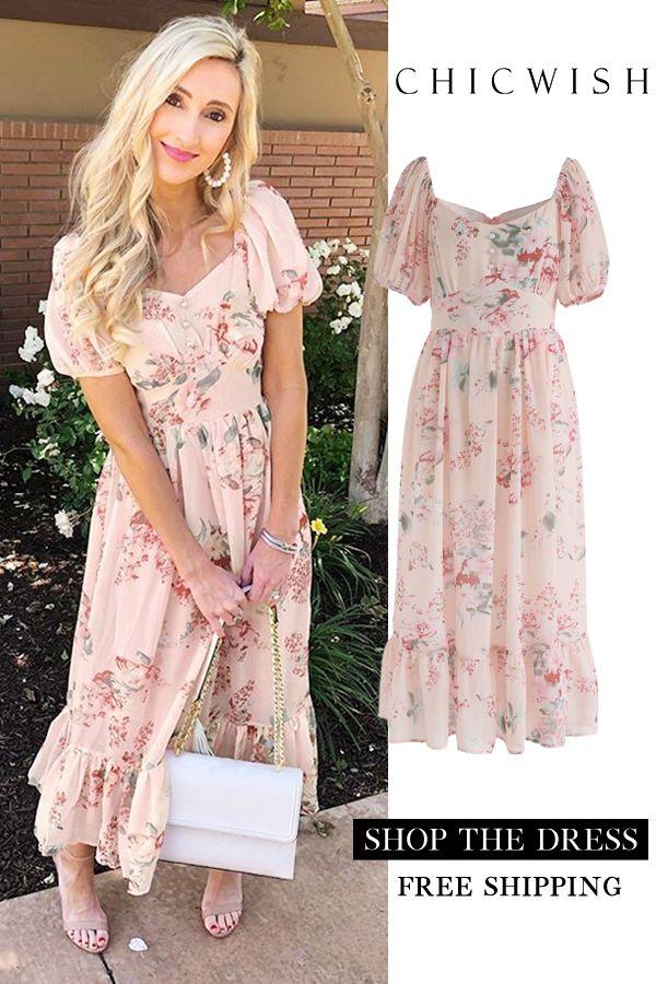 a69be56165 Enchanting Peony Chiffon Maxi Dress pink XS in 2019 | Best Seller ...