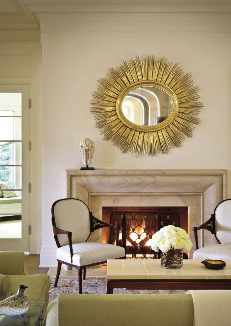 Decoration with Round Mirrors | See more @ http://diningandlivingroom.com/decorate-round-mirrors-living-room/