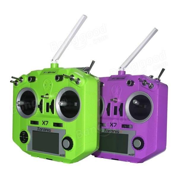 FrSky ACCST Taranis Q X7 2.4GHz 16CH Transmitter Black White Blue Orange Green Purple Mode 1 Mode 2