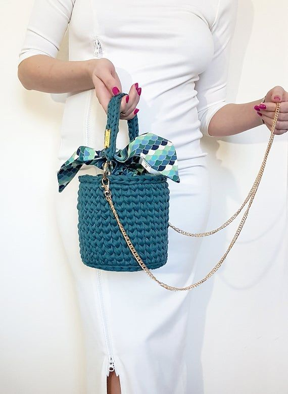 knitting bag clutch