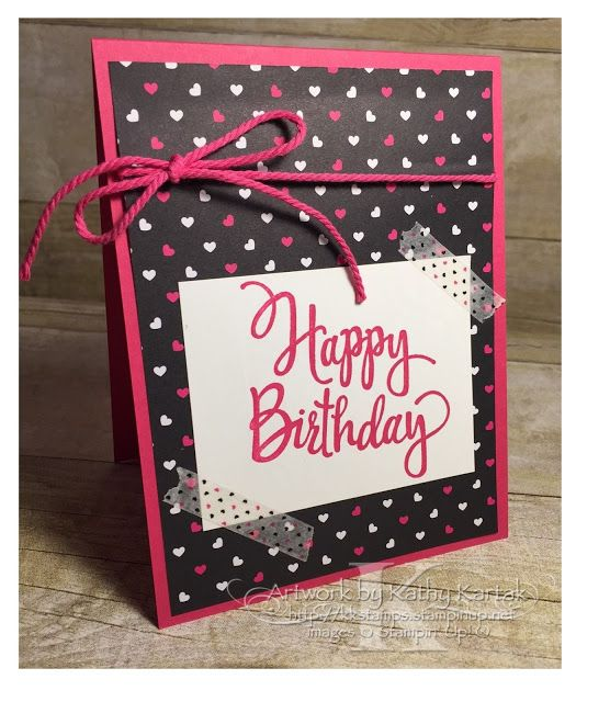 """Faithful INKspirations: Quick & Bright Birthday is made with Stampin' Up's """"Stylized Birthday"""" stamp."""