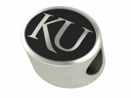 Kansas Jayhawks Solid Sterling Silver College Bead Fits Pandora Style Charm Bracelets. $49