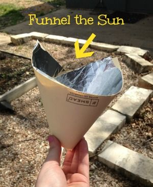 Funnel the sun! This is a fun activity that shows you how solar energy works! #kids #stem #activities